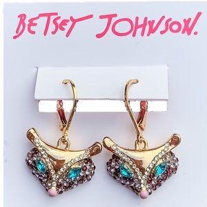 Betsey Johnson Fox Earrings